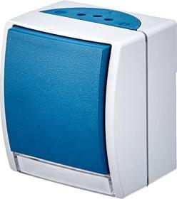 Busch-Jaeger Ocean Wippschalter, grau/blaugrün (2601/6 WN-53)