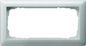 Gira Standard 55 Abdeckrahmen 2fach ohne Mittelsteg, reinweiß glänzend (1002 03)