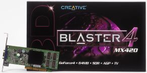 Creative 3D Blaster 4 MX420, GeForce4 MX420, 64MB (SDR), TV -out, PCI