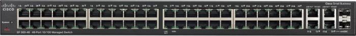 Cisco SF300 Rackmount Managed Switch, 48x RJ-45, 2x RJ-45/SFP (SF300-48/SRW248G4-K9)