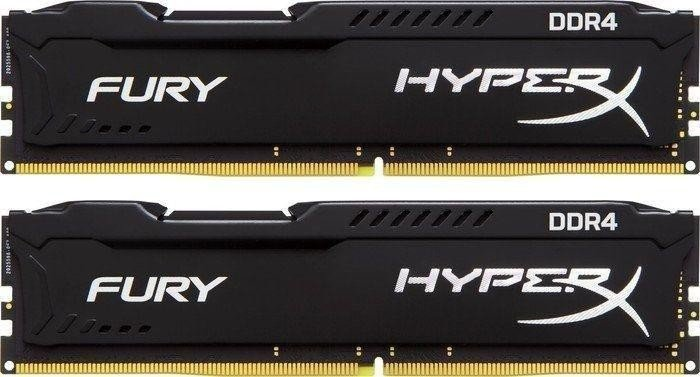 Kingston HyperX Fury schwarz DIMM Kit 16GB, DDR4-2933, CL17-19-19 (HX429C17FB2K2/16)