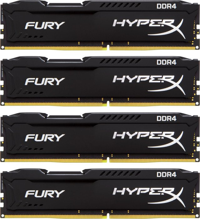 Kingston HyperX Fury black DIMM kit 32GB, DDR4-2933, CL17-19-19  (HX429C17FB2K4/32)