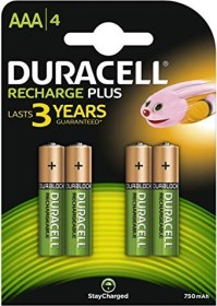 Duracell rechargeable Micro AAA 750mAh, 4-pack