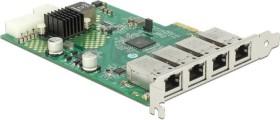DeLOCK 4x RJ-45, PCIe 2.1 x4 (89559)
