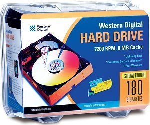 Western Digital EIDE Hard Drive Kit Specials Edition 180GB, IDE (WD1800JBRTL)