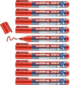 edding 360 Whiteboardmarker rot, 10er-Pack (4-360002#10)