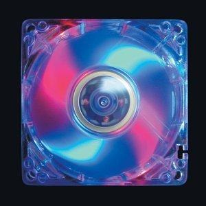 Spire wentylatory LED niebieski/czerwony, 80mm (LED-FD08025B1L3/4)