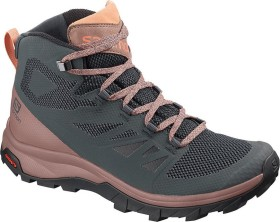 Salomon OUTline Mid GTX ebony/deep taupe/tawny orange (Damen) (406794)