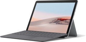Microsoft Surface Go 2 Platin 128GB, 8GB RAM, Pentium Gold 4425Y, Windows 10 S + Surface Go 2 Signature Type Keyboard Platingrau Bundle