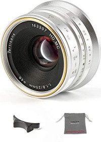 7artisans 25mm 1.8 for Canon EF-M silver