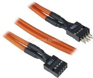 BitFenix Alchemy internal USB-extension 30cm, sleeved orange (BFA-MSC-IUSB30OK-RP) -- © caseking.de