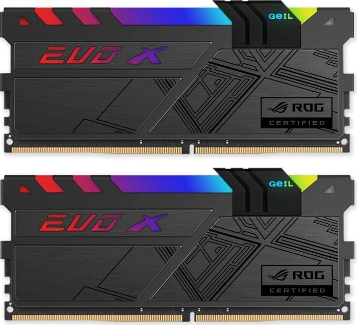 GeIL EVO X ROG DIMM kit 16GB, DDR4-3000, CL15-17-17-35 (GREXR416GB3000C15ADC)