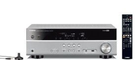 Yamaha RX-V377 AV-Receiver (5.1-channel, 100 Watt pro channel, HDMI, USB, Dolby TrueHD) Titan