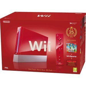 Nintendo Wii konsola Specials Edition New Super Mario Bros. Bundle, czerwony