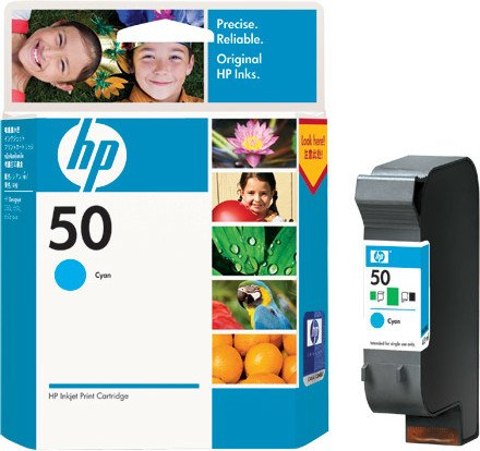 HP Printhead with ink Nr 50 cyan (51650CE)