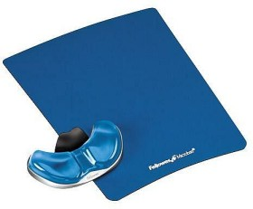 Fellowes Health-V Crystal mousepad with palm rest blue (9180601)