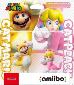 Nintendo amiibo Figur Super Mario Collection Katzen-Mario & Katzen-Peach (Switch/WiiU/3DS)