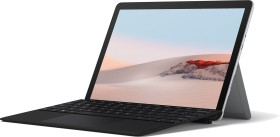 Microsoft Surface Go 2 Platin 64GB, 4GB RAM, Pentium Gold 4425Y, Windows 10 S + Surface Go 2 Type Keyboard Schwarz Bundle