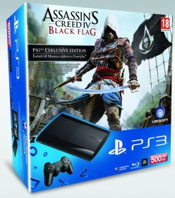 Sony PlayStation 3 Super Slim - 500GB Assassin's Creed IV: Black Flag Bundle schwarz