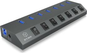 RaidSonic Icy Box IB-HUB1701-U3 USB-Hub, 7x USB-A 3.0, USB-B 3.0 [Buchse] (60262)
