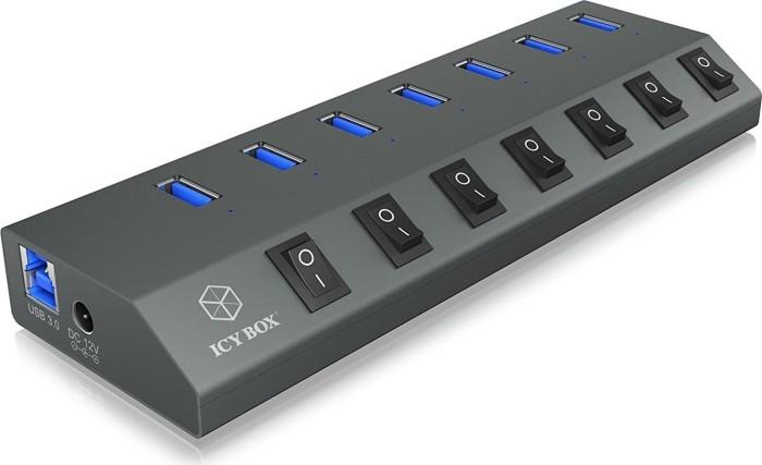 RaidSonic Icy Box IB-HUB1701-U3 USB-Hub, 7x USB-A 3.0, USB-B 3.0 [Buchse] (60153)