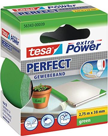 tesa extra Power perfect cloth tape green 38mm/2.75m, 1 piece (56343-00039)