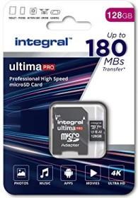 Integral ultima PRO R180/W130 microSDXC 128GB Kit, UHS-I U3, A2, Class 10 (INMSDX128G-180V30)