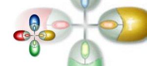 BenQ M101 Mini Optical Mouse, PS/2 (99.Q1988.xxx) (verschiedene Farben)