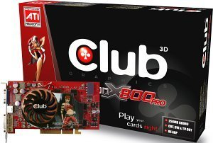 Club 3D Radeon X800 Pro, 256MB GDDR3, DVI, TV-out, AGP (CGA-PX86TVD)