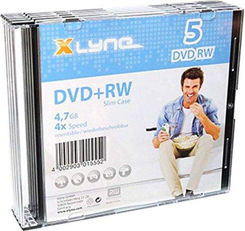 Xlyne DVD+RW 4.7GB 4x, 5er-Pack Slimcase (6005000S)