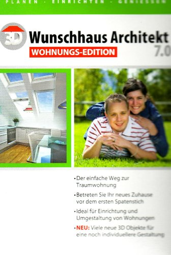 3D Wunschhaus Architekt 7.0 Wohnungs-Edition (deutsch) (PC) -- via Amazon Partnerprogramm