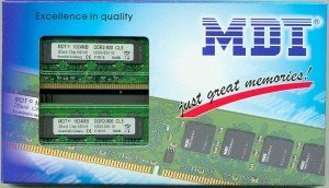 MDT DIMM Kit   2GB, DDR2-800, CL5 (M2GB-800K) --