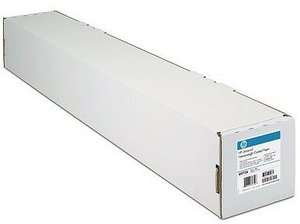 "HP C6567B coated paper 42"", 90g, 45.7m"