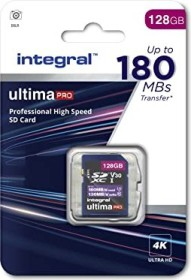 Integral ultima PRO R180/W130 SDXC 128GB, UHS-I U3, Class 10 (INSDX128G-180V30)