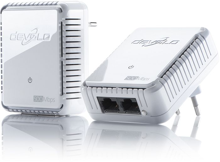 devolo dLAN 500 duo Starter Kit, HomePlug AV2, 2x RJ-45, 2er-Pack (9102/9120)