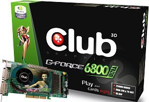 Club 3D GeForce 6800 Ultra, 256MB GDDR3, 2x DVI, TV-out, AGP (CGN-U686TDD)