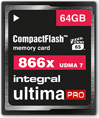 Integral ultima PRO UDMA7 R130/W105 CompactFlash Card 866x 64GB (INCF64G866X)