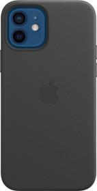 Apple Leder Case mit MagSafe für iPhone 12/12 Pro schwarz (MHKG3ZM/A)