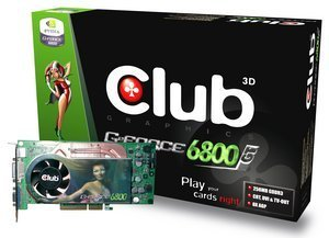 Club 3D GeForce 6800 GT, 256MB DDR3, 2x DVI, TV-out, AGP (CGN-G686TVDD)