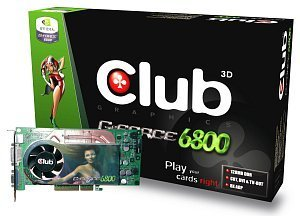 Club 3D GeForce 6800, 128MB DDR, DVI, TV-out, AGP (CGN-688TVD)
