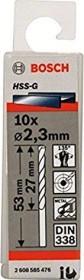 Bosch Professional HSS-G drills 2.3x27x53mm, 10-pack (2608585476)