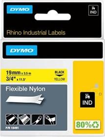 Dymo ID1 flexible Industrial Rhino Pro labelling tape 19mm, black/yellow (18491)