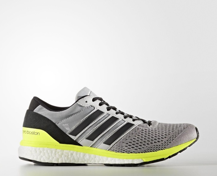 b44a254899f18 adidas adizero Boston 6 grey two core black solar yellow (Damen) (