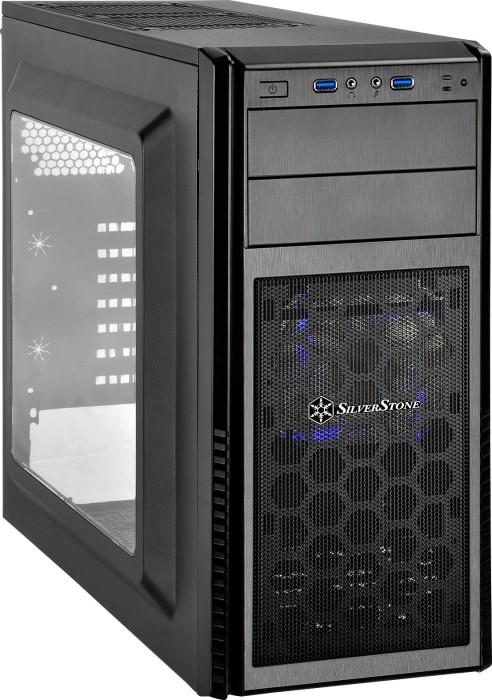 SilverStone Precision PS11 schwarz, Acrylfenster (SST-PS11B-W)