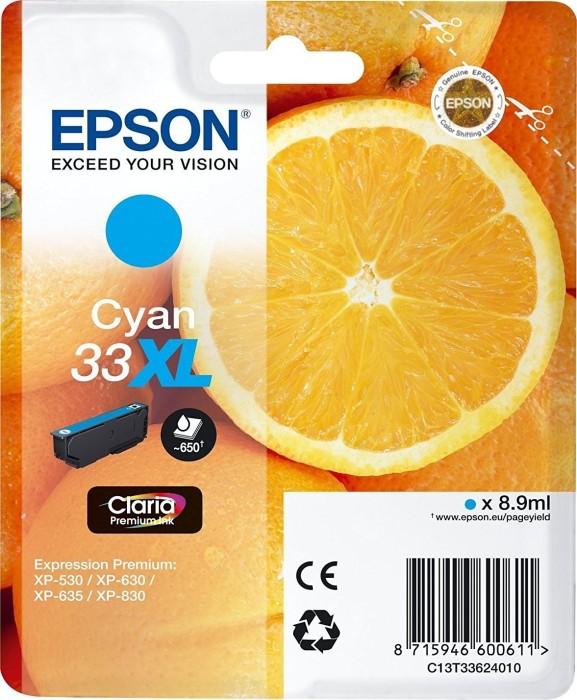 Epson Tinte 33 XL cyan (C13T33624010)