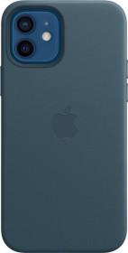 Apple Leder Case mit MagSafe für iPhone 12/12 Pro baltischblau (MHKE3ZM/A)