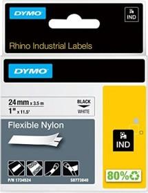 Dymo ID1 flexible Industrial Rhino Pro labelling tape 24mm, black/white (1734524)