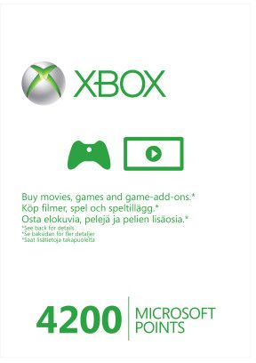 Microsoft Xbox Live Points Card - 4200 points (Xbox One/Xbox 360) (56P-00101)