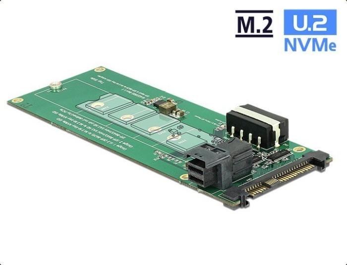 DeLOCK Converter U.2 SFF-8639 / SFF-8643 NVMe > 1 x M.2 Key M (62945)