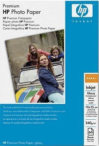 HP Q1992A premium photo paper high gloss 10x15, 240g, 60 sheets